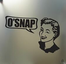oh snap sticker Funny vintage girl JDM acura honda car truck window decal