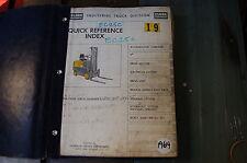 CLARK EC25C Forklift Parts Manual book catalog list spare lift truck index 1964