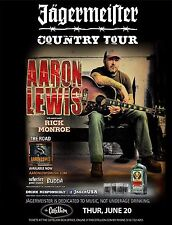 """AARON LEWIS """"COUNTRY TOUR"""" 2013 WICHITA CONCERT POSTER - Alt Metal Music, Staind"""