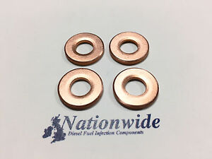 Toyota Land Cruiser 3.0 Common Rail Diesel Injector Washers/Seals Denso x 4