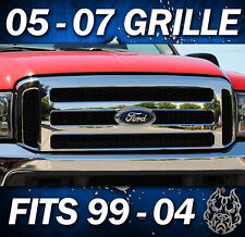 2006 F250 FORD CHROME GRILL CONVERSION FITS 1999-2004