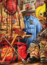 Jigsaw puzzle Americana Fire Police Rescue 1000 piece NEW American Heroes