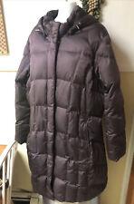 Eddie Bauer XXL Burgundy 650 Fill Goose Down Hooded Puffer Parka Coat PRISTINE