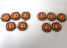 10 East german Cloth Cap Badge / Patch for Army NVA, State Police, border tropps