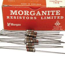 50x Morganite resistenza, 200 ohm/0.5 W, VINTAGE TUBE AMP resistors, NOS