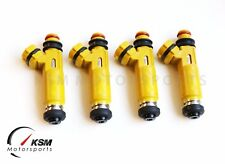4 X 450cc Denso for MAZDA yellow fuel injectors OEM 04-08 RX8 RX7 13B Miata