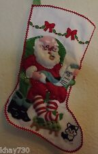 "Bucilla *He'S Making A List* 18"" Diag Christmas Felt Stocking Kit Finished"
