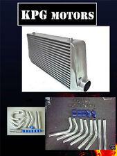 600X300X100 MM INTERCOOLER + 90MM ALUMINIUM PIPING + T BOLT CLAMP/SILICONE KIT