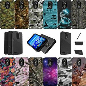 For LG Stylo 3 | LG Stylus 3 | LG Stylo 3 Plus | LS777 Dual Bumper Case Camos