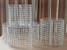 Crystal Chandelier style cake stands faux crystal effect - set of 5 tiers