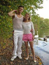 Sporthose Trainingshose Jogginghose weiß 70er TrueVintage 70s track pants white