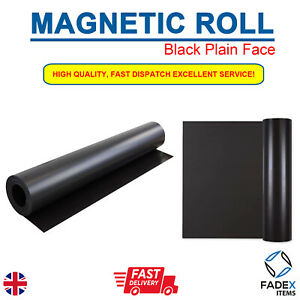 MAGNETIC SHEET SIGN VINYL 0.75MM BLACK PLAIN FACE FLEXIBLE 620MM A4, A3, A2, A1