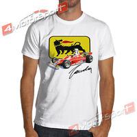 1975 F 312T F1 Niki Lauda Vintage Formula 1 T-Shirt 100% Soft Cotton Ferrari