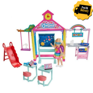 Barbie Club Chelsea School Doll Playset Little Girls Pretend Play Toy Set Gift