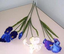 Artificial flowers & plants Iris stem w/leaves F93-S