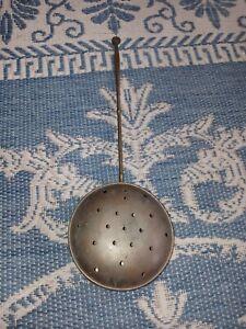 Vintage Primitive Brass Bed Warmer