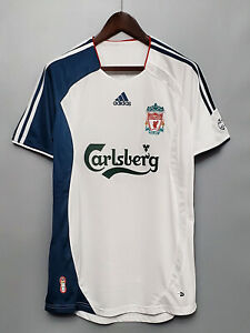 06-07 Liverpool away home Retro soccer jersey