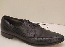 9.5 N mens vtg black alligator BATRHBY FOOTWEAR  by HUTTON of NORTHAMPTON shoes