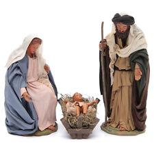Nativité classique 3 personnages 24 cm crèche napolitaine