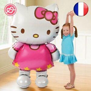 GRAND Ballons Hello Kitty 116x68 CM Chat ANNIVERSAIRE MARIAGE BAPTEME DECORATION