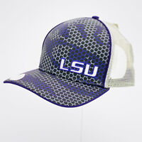 LSU Tigers Louisiana State The Game Brand Mesh Trucker Snapback Hat Cap NWT