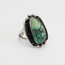 Native American ring size 6.5 Handmade signed sterling silver and turquoise