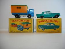Vintage Matchbox Lesney # 60 Truck & Site Office & # 33 Ford Zephyr Mint In Box