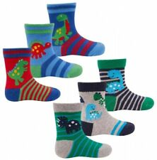 BABY1367 Pack Of 3 Baby Boys Assorted Dinosaur//Dragon Design Socks