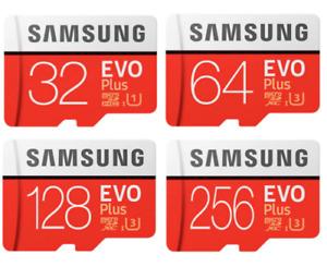 Samsung EVO Plus Micro SD Card 32GB 64GB 128GB 256GB Class 10 SDHC Memory Card