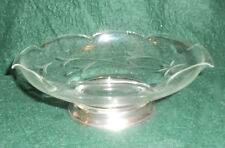Vintage Sterling Silver and Cut Glass Candy Dish Bowl