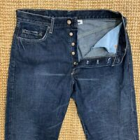 Men's Vintage Levi's 501 Straight Leg Dark Wash Denim Button Fly Jeans W34 L32