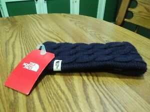 The North Face ~ Womens Fuzzy Cable Earband ~ Galaxy Purple ~ Brand New! ~ OS