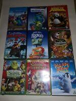 Childrens/Kids Dvd Bundle 9x Dvds Dream Works, Disney Good Condition Free p&p