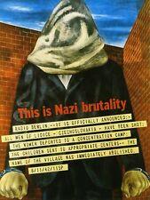 Propaganda War WWII UK Lidice Massacre Czechoslovakia Canvas Print