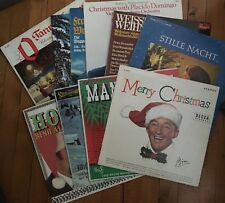 11 Vintage Merry Christmas Collection Records Bing Crosby Placido Mitch Miller +