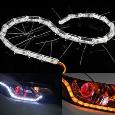 Dual Color LED Strip Lights Sequential Signal For Car Headlight Mods Fixed Style