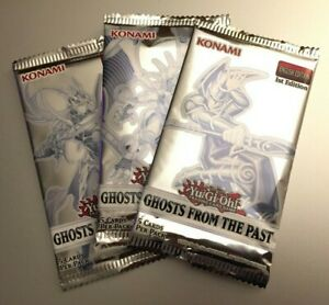 (3) YuGiOh GHOSTS FROM THE PAST GFTP 1st Edition Factory Sealed Booster Packs