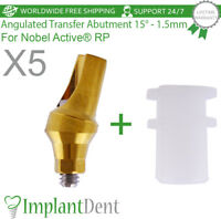 5 Angulated Transfer Abutment 15° Nobel Biocare Active Hex RP Dental Implant