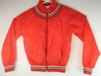 VTG Silver Unicorn Women's Red Rainbow Color Block Full Zip Jacket Sz S/M