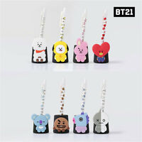 BTS BT21 Official Authentic Goods monopoly Pen Stand + Gel Pen SET KPOP