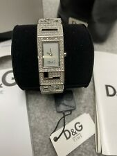 D&G Dolce & Gabbana Shout Silver Crystal Ladies Watch - DW0286