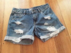 superdry shorts women w 24 distressed mid blue in POC