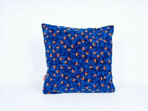 Cushion Made From Stagecoach Blue Beach Ball bus Moquette