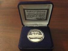 "NASA ""LAUNCH AMERICA"" 1 TROY OUNCE OF .999 FINE SILVER NAVY BLUE JEWELRY BOX"