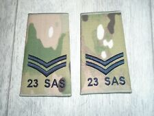More details for special forces 23 sas mtp rank slide corporal genuine british army new pair