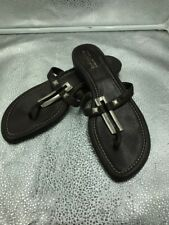 🌈Russell & Bromley Weiitzman Size 7 40 Brown Leather Tonga Sandals Womens
