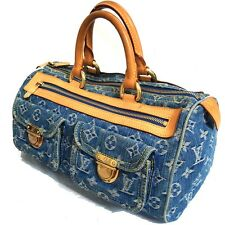 Auth LOUIS VUITTON Neo Speedy M95019 Hand Bag Purse Blue Monogram Denim SP0065