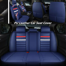 Deluxe Edition 5-Seats Mircrofiber Leather Seat Covers M Size Front&Rear+Pillows