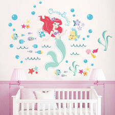 New Little Mermaid Wall Art Stickers Removable Kids Nursery Vinyl  Decor DIY