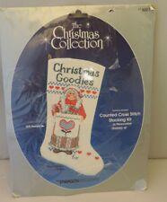 NIP  Holiday Christmas Stocking Cross Stitch Kit